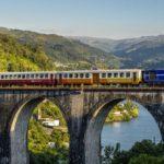Train in Douro valley