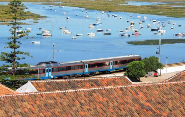 Train in Faro, Portugal