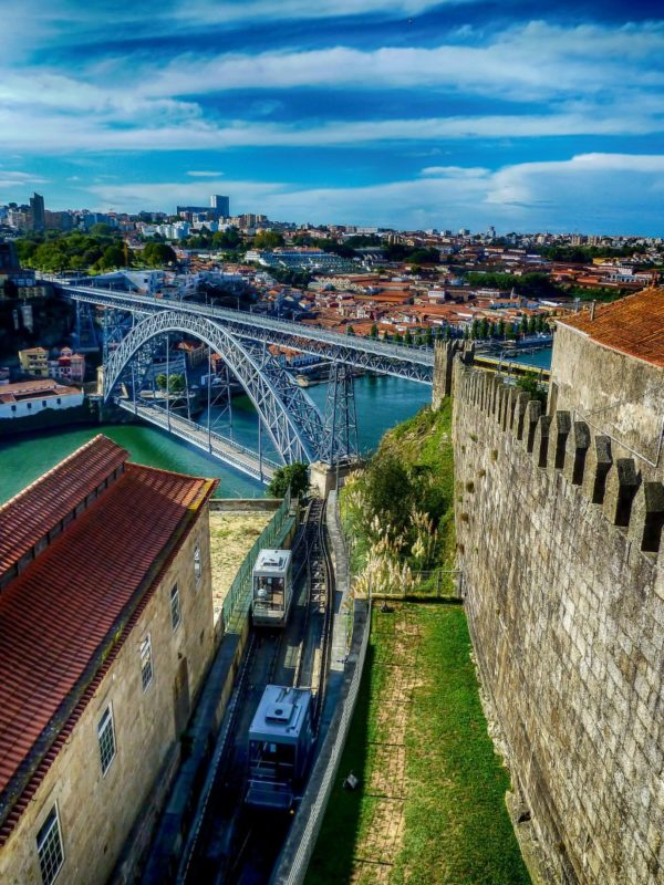 Porto Walls and view to bridge